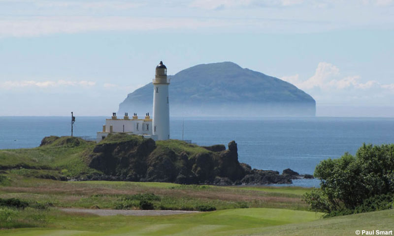 Turnberry Lighthouse and Ailsa Craig